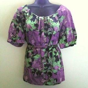 Multicolored Floral Tunic
